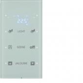 Touch Sensor, 3-канальный с регулятором температуры помещения, R.3, сконфигурирован, цвет: полярная белизна 75643150
