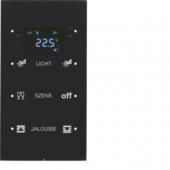 Touch Sensor, 3-канальный с регулятором температуры помещения, R.3, сконфигурирован, цвет: черный 75643155