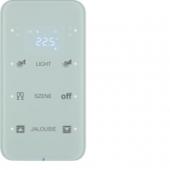 Touch Sensor, 3-канальный с регулятором температуры помещения, R.1, сконфигурирован, цвет: полярная белизна 75643160