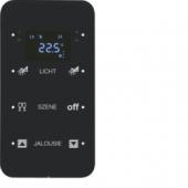 Touch Sensor, 3-канальный с регулятором температуры помещения, R.1, сконфигурирован, цвет: черный 75643165