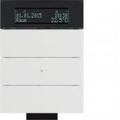 Инфракрасный клавишный сенсор B.IQ с регулятором температуры помещения, 3-канальный, цвет: полярная белизна 75663699
