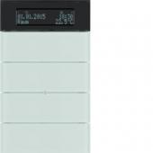 Клавишный сенсор B.IQ с регулятором температуры помещения, 4-канальный, стекло, цвет: полярная белизна 75664590