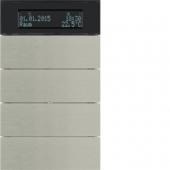 Клавишный сенсор B.IQ с регулятором температуры помещения, 4-канальный, нержавеющая сталь 75664593