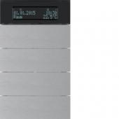 Клавишный сенсор B.IQ с регулятором температуры помещения, 4-канальный, алюминий 75664594