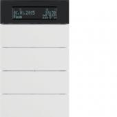 Клавишный сенсор B.IQ с регулятором температуры помещения, 4-канальный, цвет: полярная белизна 75664599