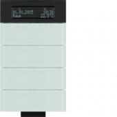 Инфракрасный клавишный сенсор B.IQ с регулятором температуры помещения, 4-канальный, стекло, цвет: полярная белизна 75664690