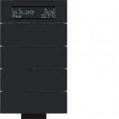 Инфракрасный клавишный сенсор B.IQ с регулятором температуры помещения, 4-канальный, стекло, цвет: черный 75664692