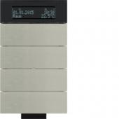 Инфракрасный клавишный сенсор B.IQ с регулятором температуры помещения, 4-канальный, нержавеющая сталь 75664693