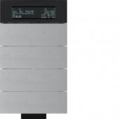 Инфракрасный клавишный сенсор B.IQ с регулятором температуры помещения, 4-канальный, алюминий 75664694