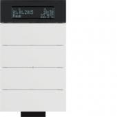 Инфракрасный клавишный сенсор B.IQ с регулятором температуры помещения, 4-канальный, цвет: полярная белизна 75664699