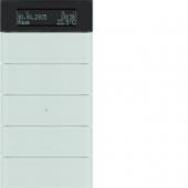 Клавишный сенсор B.IQ с регулятором температуры помещения, 5-канальный, стекло, цвет: полярная белизна 75665590