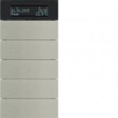 Клавишный сенсор B.IQ с регулятором температуры помещения, 5-канальный, нержавеющая сталь 75665593