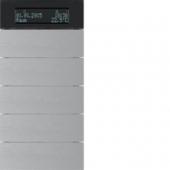 Клавишный сенсор B.IQ с регулятором температуры помещения, 5-канальный, алюминий 75665594