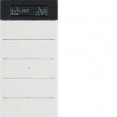 Клавишный сенсор B.IQ с регулятором температуры помещения, 5-канальный, цвет: полярная белизна 75665599