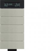 Инфракрасный клавишный сенсор B.IQ с регулятором температуры помещения, 5-канальный, нержавеющая сталь 75665693