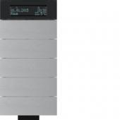 Инфракрасный клавишный сенсор B.IQ с регулятором температуры помещения, 5-канальный, алюминий 75665694