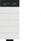 Инфракрасный клавишный сенсор B.IQ с регулятором температуры помещения, 5-канальный, цвет: полярная белизна 75665699