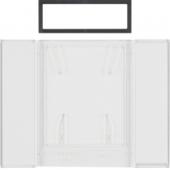 Поле для надписи для 4-канальных клавишных сенсоров B.IQ поверхность: бесцветная, прозрачная B.IQ 75900081