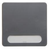 Клавиша с полем для надписей цвет: серый, Aquatec IP44 75991300