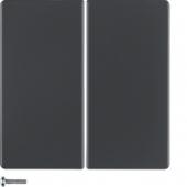 Berker.Net - Кнопка 2-канальная, Q.1/Q.3, цвет: антрацитовый, с эффектом бархата 85142126