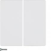 Berker.Net - Кнопка 2-канальная, Q.1/Q.3, цвет: полярная белизна, с эффектом бархата 85142129