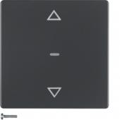 Berker.Net - Кнопка для вставки жалюзи, Q.1/Q.3, цвет: антрацитовый, с эффектом бархата 85241126