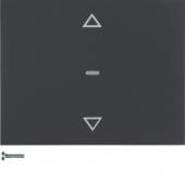 Berker.Net - Кнопка для вставки жалюзи, K.1, цвет: антрацитовый 85241175
