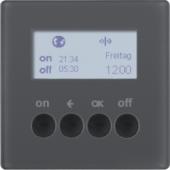 Berker.Net - Таймер для вставки выключателя, KNX-Радио, quicklink, Q.1/Q.3, цвет: антрацитовый, с эффектом бархата 85745226