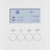 Berker.Net - Таймер для вставки выключателя, KNX-Радио, quicklink, Q.1/Q.3, цвет: полярная белизна, с эффектом бархата 85745229