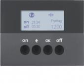 Berker.Net - Таймер для вставки выключателя, KNX-Радио, quicklink, K.1, цвет: антрацитовый 85745275