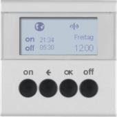 Berker.Net - Таймер для вставки выключателя, KNX-Радио, quicklink, S.1/B.3/B.7, цвет: алюминиевый 85745283