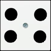 Крышка для SAT-TV-розетки с 4-мя гнездами, белая A561-4SAT1WW