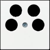 Крышка для SAT-TV-розетки с 4-мя гнездами, белая A561-4SAT2WW