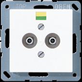 Штепсельная розетка для выравнивания потенциалов, белая A565-2WW