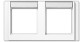 Рамка 2-кратная с полем для надписи, белая A5820NAWW