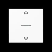 Клавиша для контрольного выключателя с символами вверх-вниз, белый A590KO5PWW