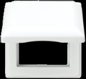 Откидная крышка 80,5 x 80,5 мм, противоударная, белая AS581BFKLWW