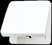 Крышка откидная для штепсельных розеток и изделий с платой 50?50 мм, белая CD590KLWW
