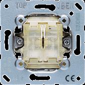 Выключатель 10AX 250V кнопочный универсальный сдвоенный