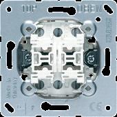 Кнопка сдвоенная без фиксации с двумя переключающими группами