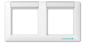 Рамка 2-кратная с полем для надписи, белая ABAS5820NAWW