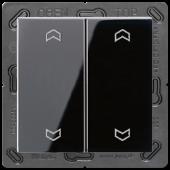 EnOceanвыключатель двухклавишный в сборе, с символами, черный ENOA595MPSW