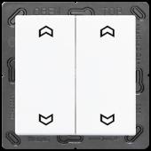 EnOceanвыключатель двухклавишный в сборе, с символами, белый ENOA595MPWW