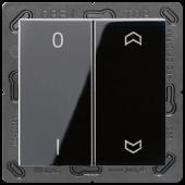 EnOceanвыключатель двухклавишный в сборе, с символами, черный ENOA595P01SW