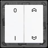 EnOceanвыключатель двухклавишный в сборе, с символами, белый ENOA595P01WW