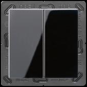 EnOceanвыключатель двухклавишный в сборе, черный ENOA595SW