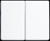 Клавиша короткого хода сдвоенная, белая SL1565.07WW