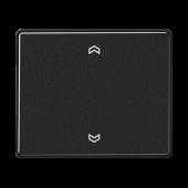 Клавиша блока управления жалюзи с возможностью подсоединения датчиков, черная SL5232FSSW
