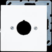 Крышка для установки специальных изделий O22,5 мм с несущим каркасом, белая LS964WW