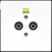 Розетка штепсельная для выравнивания потенциалов, белая LS965-2WW